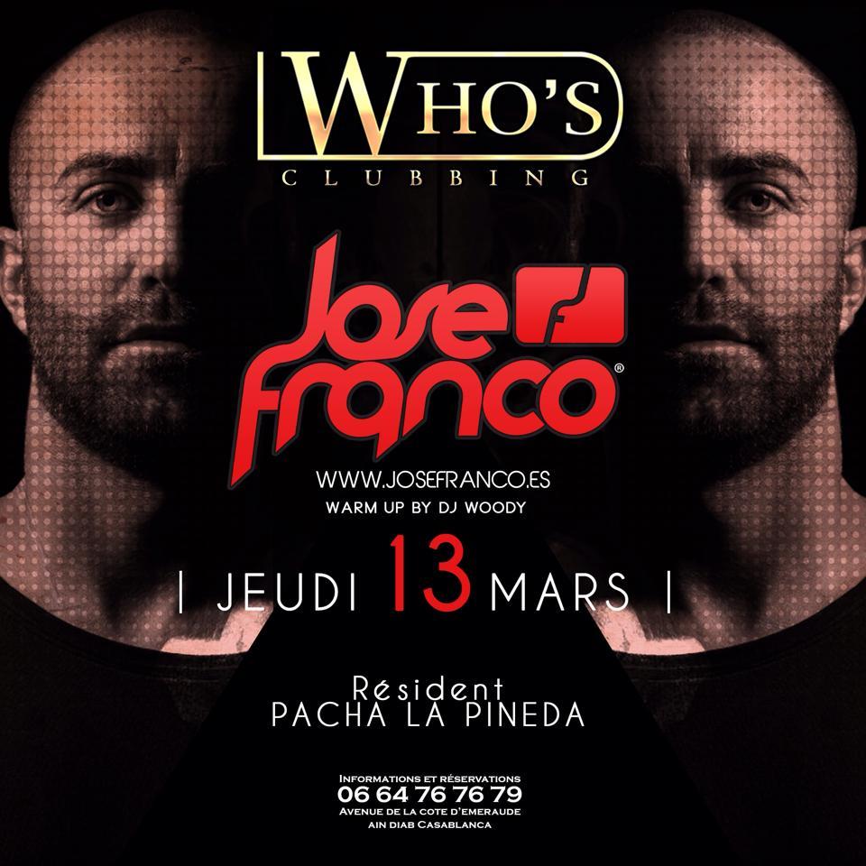 Jose Franco @ Who's Clubbing Ain Diab Casablanca