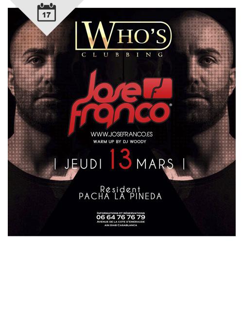 Jose Franco @ Who's Clubbing Casablanca
