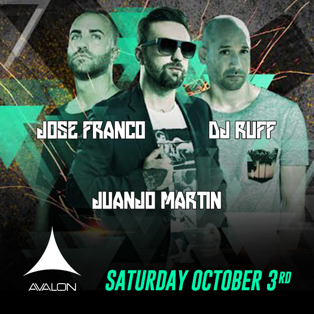 Jose Franco, Juanjo Martin, DJ Ruff